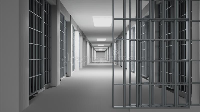 Interior de la prisión stock de ilustración