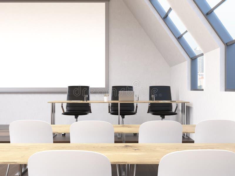 Interior de la sala de clase ilustración del vector