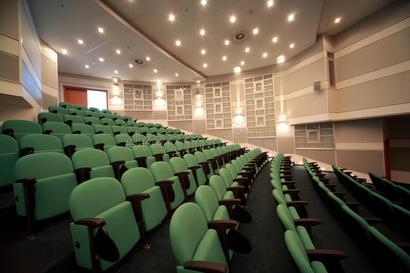 Interior de la sala de conferencias fotos de archivo libres de regalías
