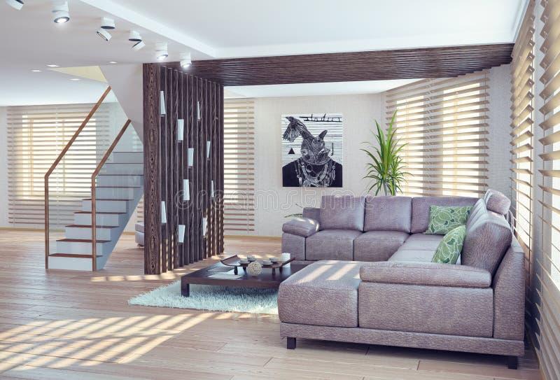 Download Interior De La Sala De Estar Stock de ilustración - Ilustración de residencia, decorativo: 42437297