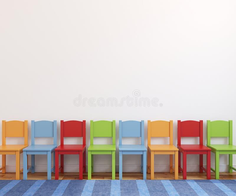 Interior de la sala de juegos. stock de ilustración