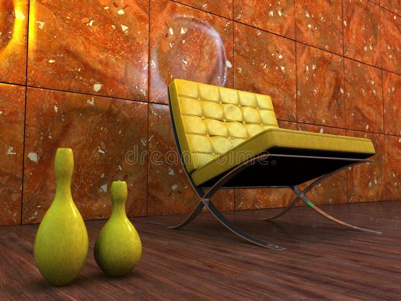 Interior de la silla del diseño ilustración del vector