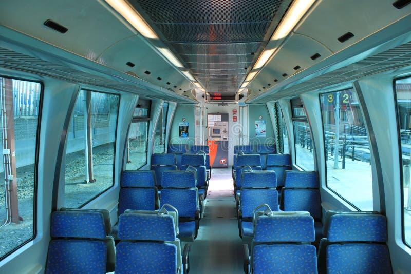 Interior de la tranvía de Alicante fotos de archivo libres de regalías