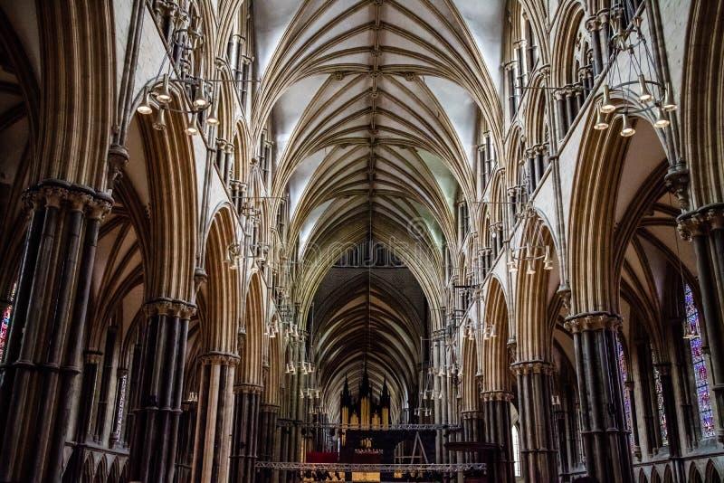 Interior de Lincoln Cathedral fotos de stock royalty free