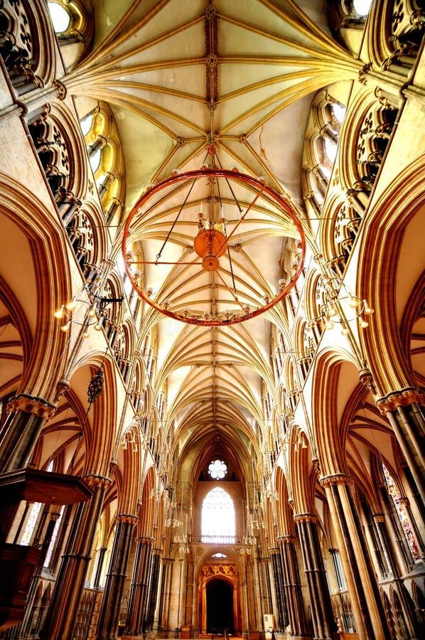 Interior de Lincoln Cathedral foto de stock