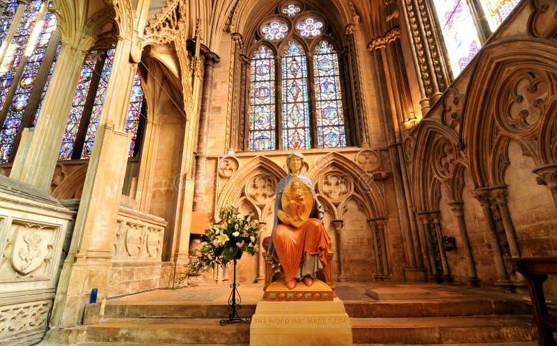 Interior de Lincoln Cathedral fotografia de stock royalty free