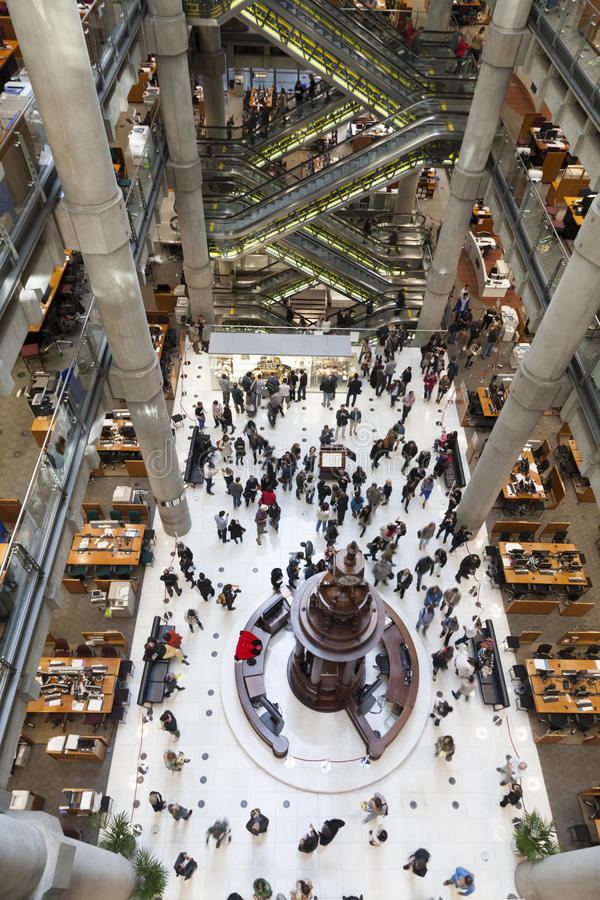 Interior de Lloyds de Londres fotos de archivo libres de regalías