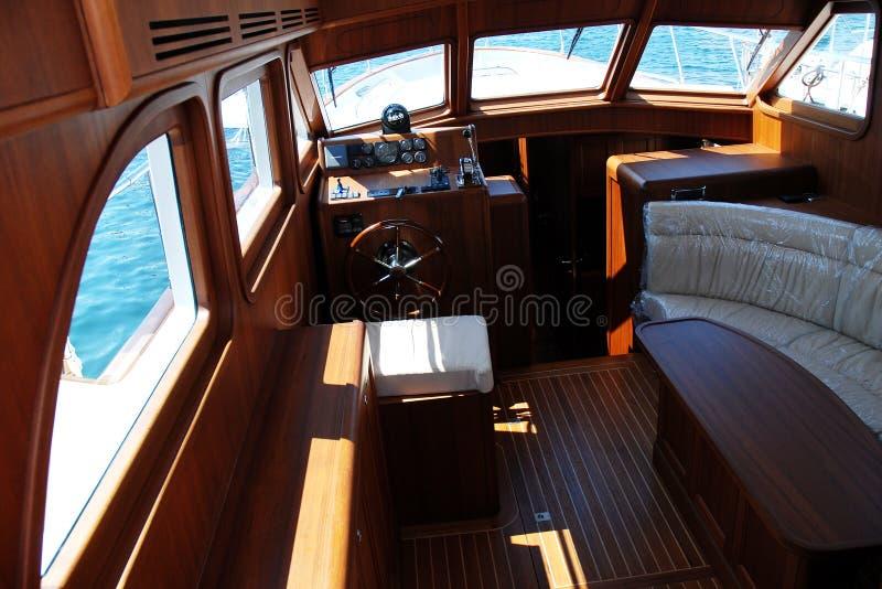 Interior de lujo del barco fotos de archivo libres de regalías