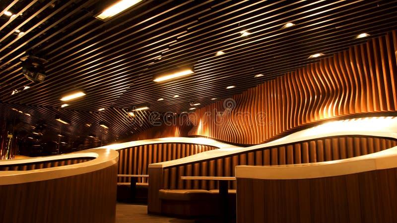 Interior de lujo del restaurante foto de archivo libre de regalías