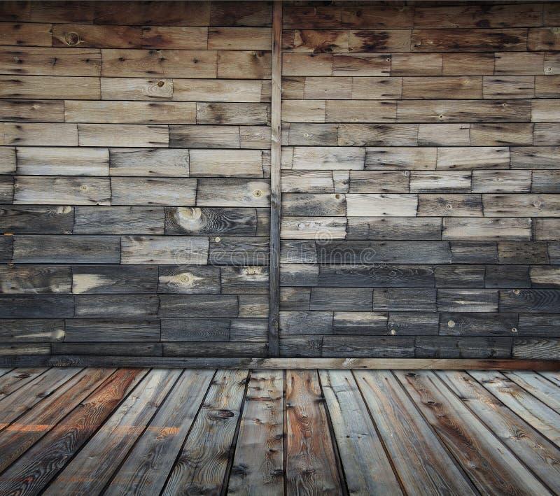Interior de madeira imagens de stock