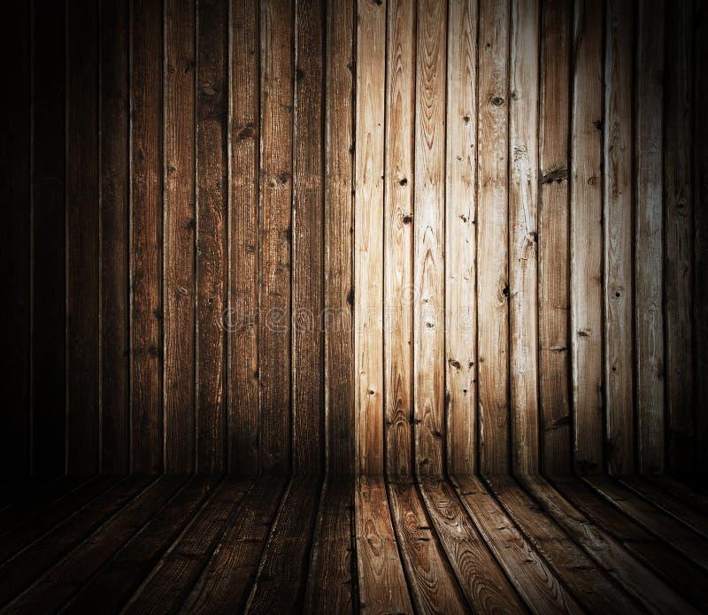 Interior de madeira imagem de stock