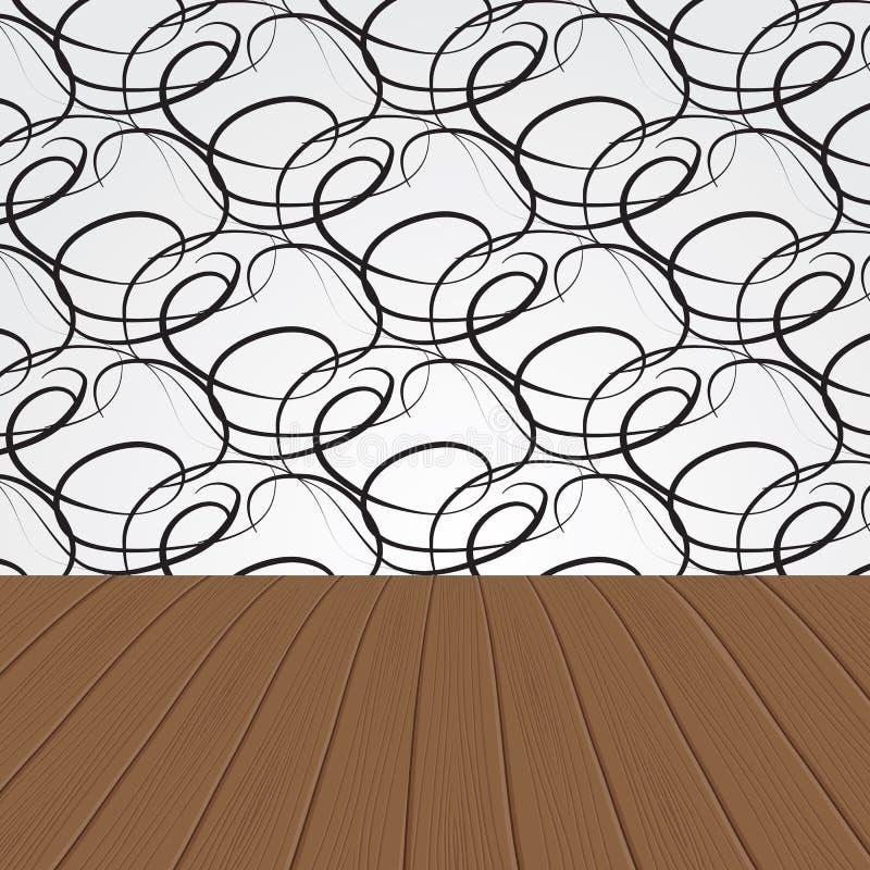 Interior de madeira abstrato ilustração do vetor