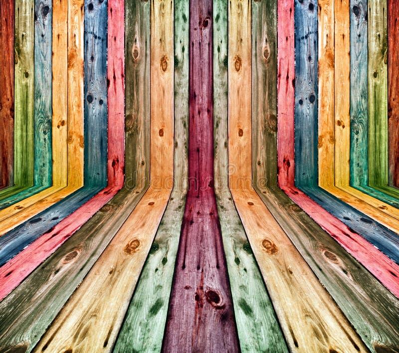 Interior de madeira colorido foto de stock royalty free