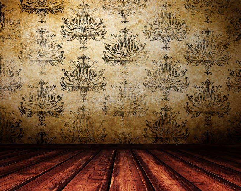 Interior de madeira do vintage. fotos de stock royalty free