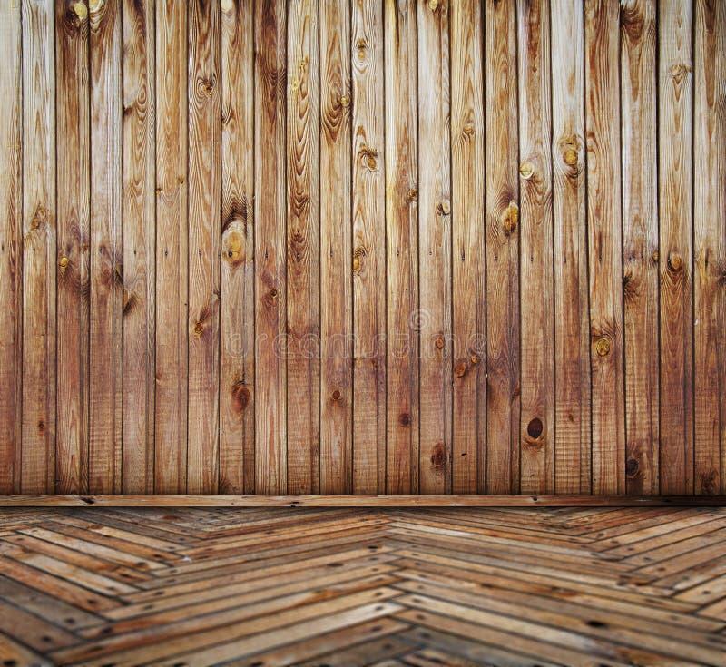 Interior de madera foto de archivo