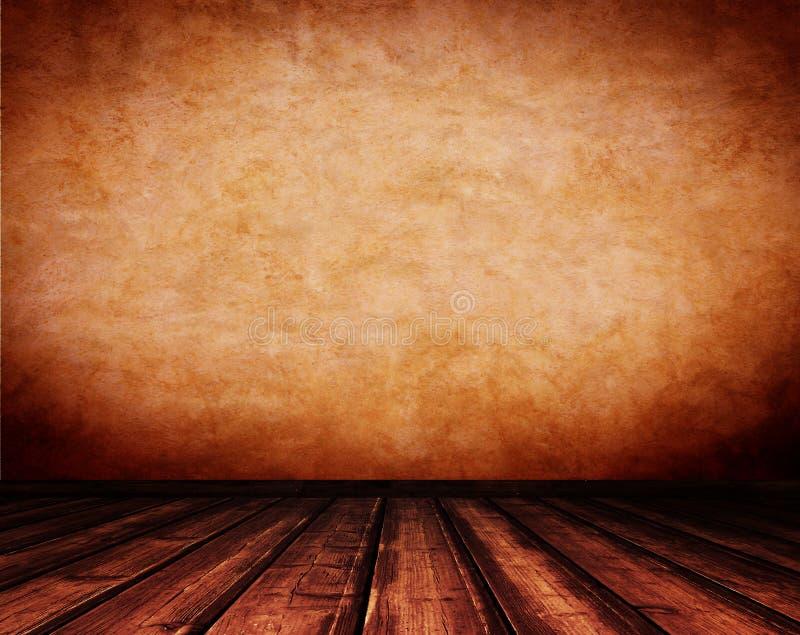 Interior de madera del vintage. foto de archivo