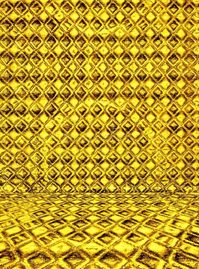Interior de oro de lujo. Hola res foto de archivo