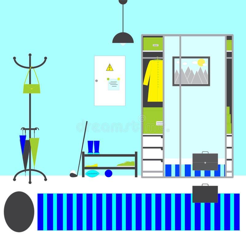 Interior de Pasillo ilustración del vector