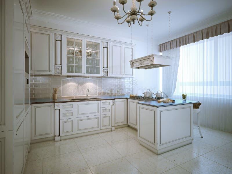 Interior de Provence de la cocina de lujo ilustración del vector