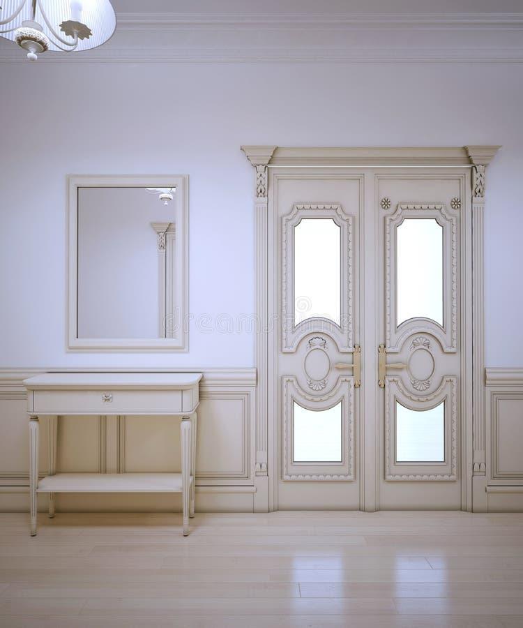 Interior de Provence do corredor ilustração stock