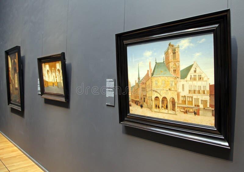 Interior de Rijksmuseum em Amsterdão, Países Baixos fotografia de stock