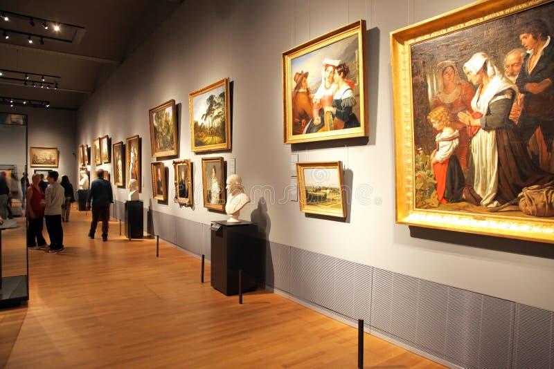 Interior de Rijksmuseum em Amsterdão, Países Baixos imagem de stock royalty free