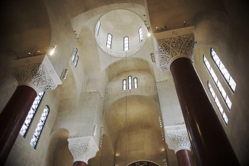 Interior de Saint Mark Orthodox Church In Belgrade, Sérvia fotos de stock