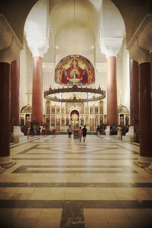 Interior de Saint Mark Orthodox Church In Belgrade, Sérvia imagem de stock royalty free