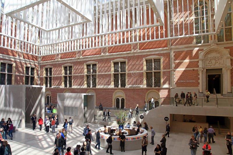 Interior de Salão do Museu Nacional Rijksmuseum, Amsterdão fotografia de stock royalty free