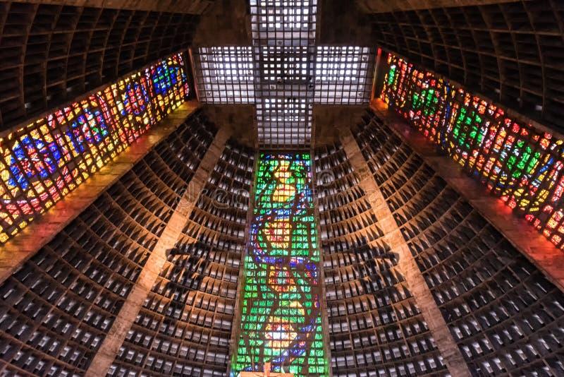 Interior de San Sebastián foto de archivo