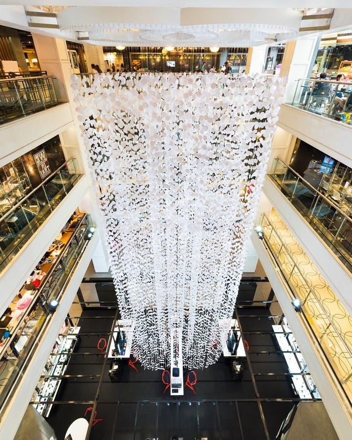 Interior de Siam Center, Banguecoque fotos de stock