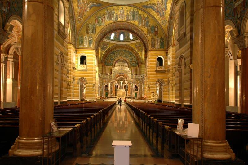 Interior de St Louis Cathed foto de stock royalty free