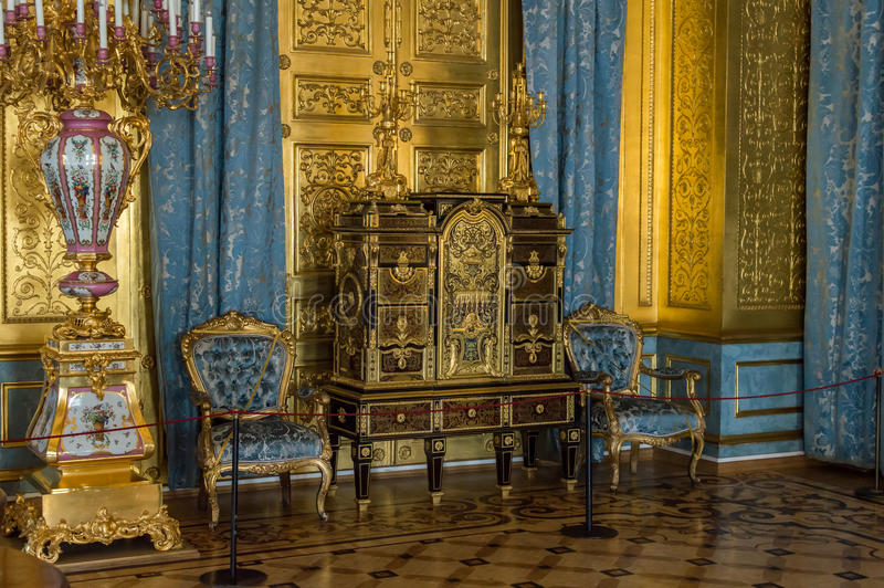 Interior de ST PETERSBURG, RÚSSIA do eremitério, da arte do museu e da cultura em St Petersburg fotos de stock royalty free