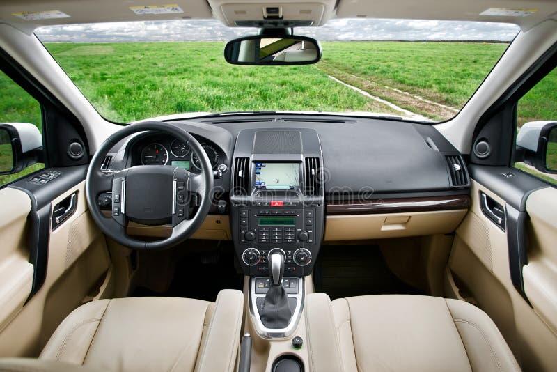 Interior de SUV imagen de archivo