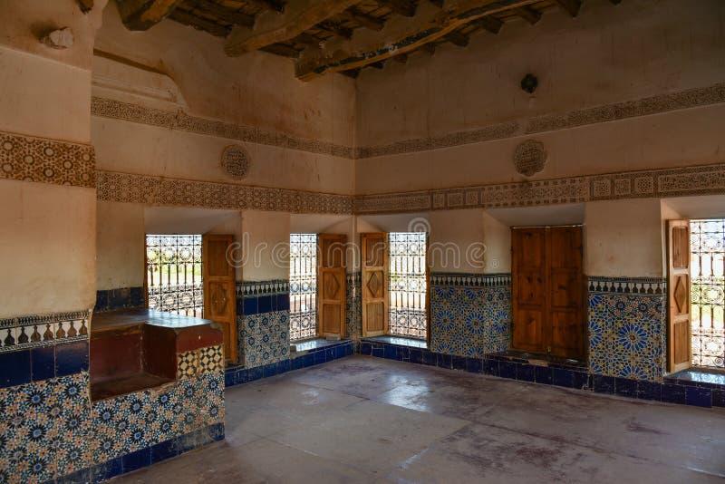 Interior de Taourirt Kasbah imágenes de archivo libres de regalías