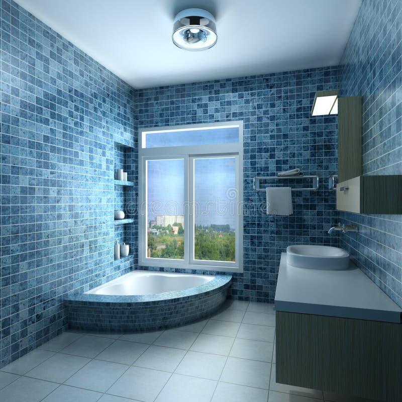 Interior de um banheiro ilustração do vetor