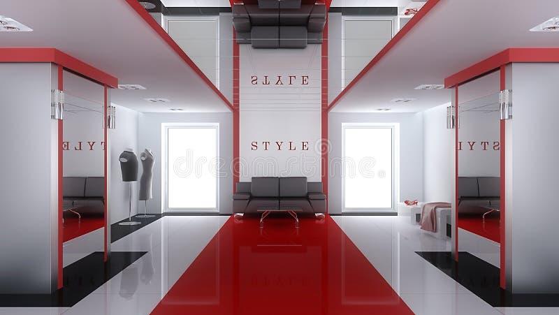 Interior de um boutique moderno ilustração royalty free