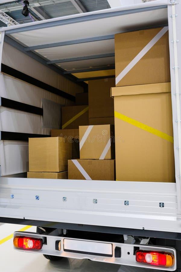 Interior de um caminhão fotografia de stock