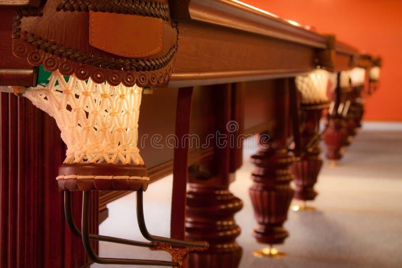 Interior de um clube que tem a tabela de bilhar fotos de stock