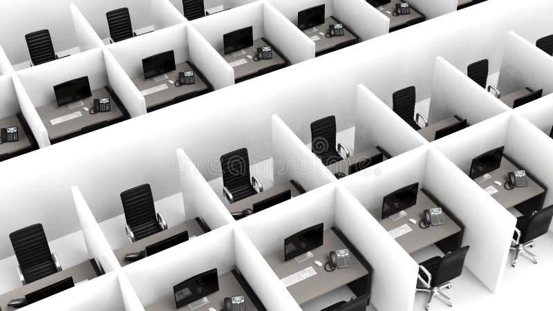 Interior de um escritório moderno ilustração stock