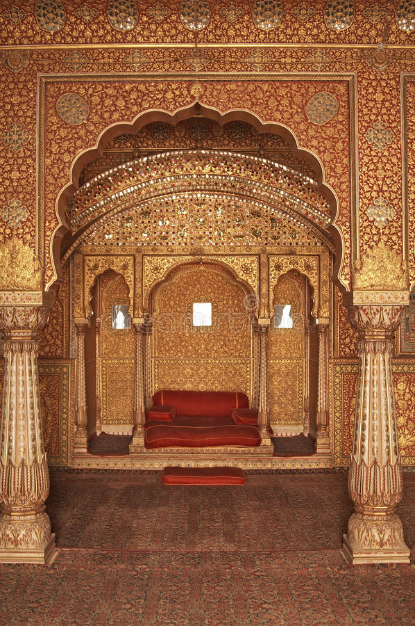 Interior de um palácio indiano imagem de stock royalty free