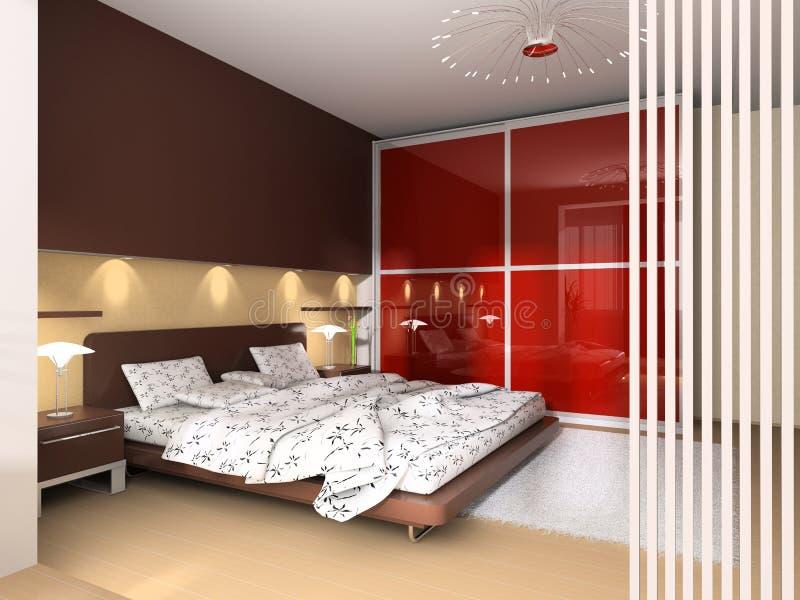 Interior de um quarto ilustração royalty free