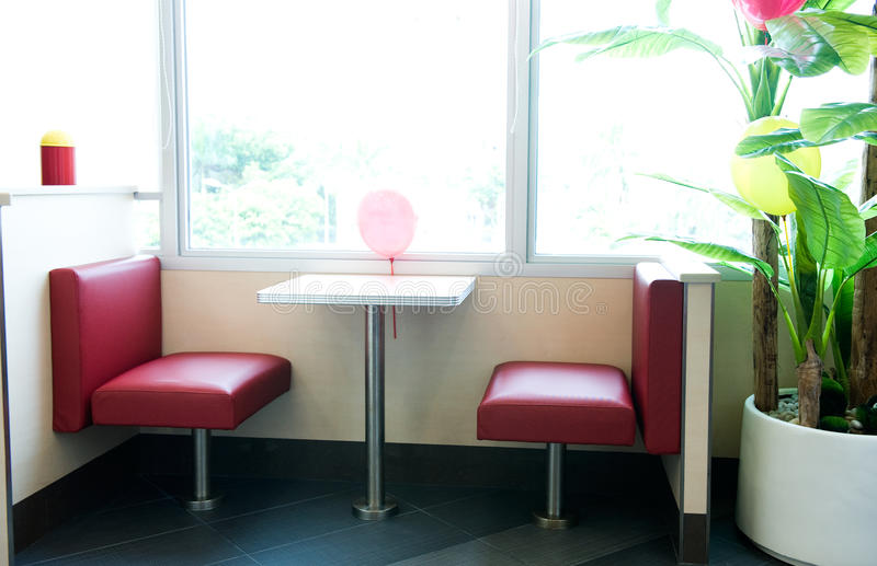 Interior de um restaurante fotos de stock