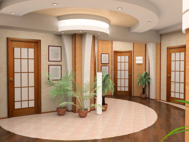 Interior de um salão foto de stock