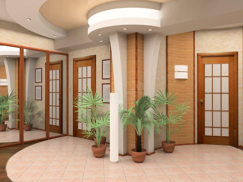 Interior de um salão imagens de stock royalty free