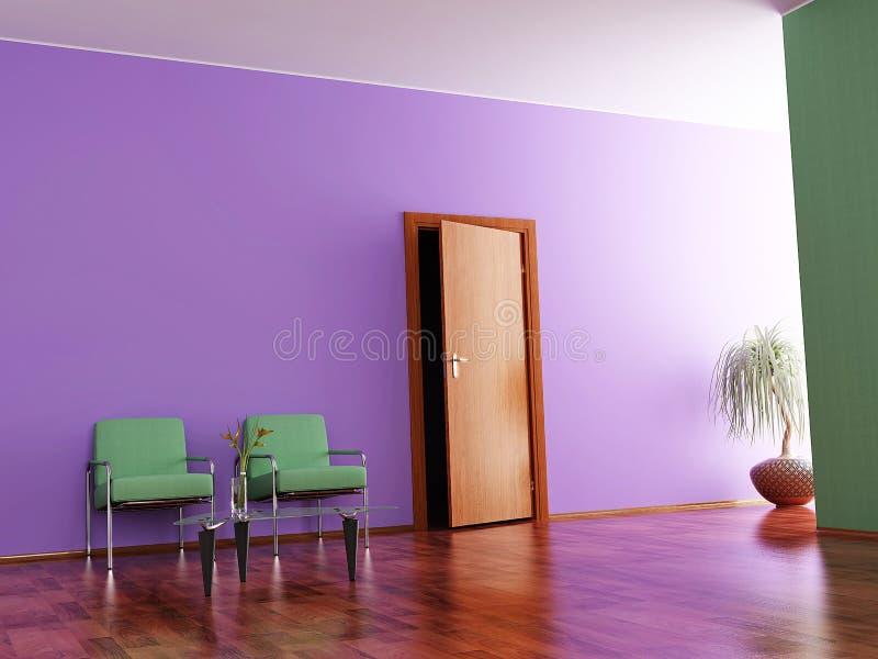 Interior de um salão ilustração do vetor