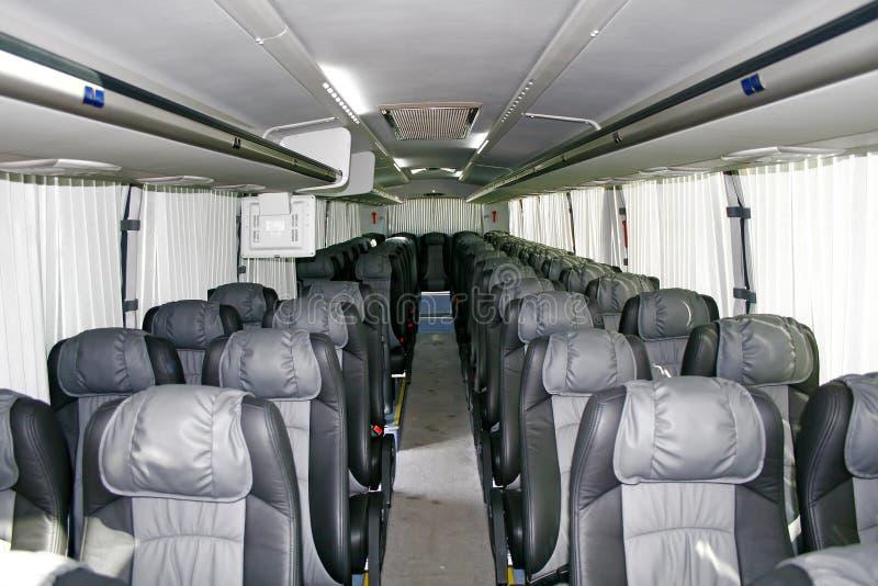 Interior de um treinador interurban fotografia de stock