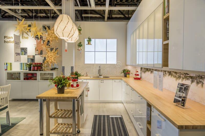 Interior de uma loja de equipamentos de casa capturada em Dallas, Estados Unidos imagem de stock royalty free