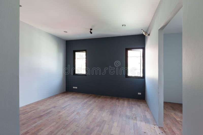 Interior de un cuarto bajo construcción fotografía de archivo