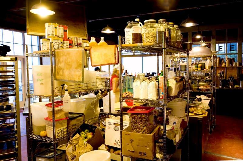 Interior de un departamento del Panadería-Café fotografía de archivo libre de regalías